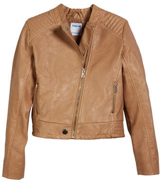Mayoral Faux Leather Biker Jacket, Size 8-16