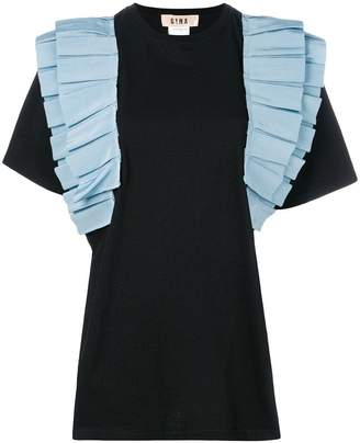 Gina contrast ruched detail T-shirt