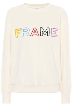 Frame Embroidered cotton sweatshirt