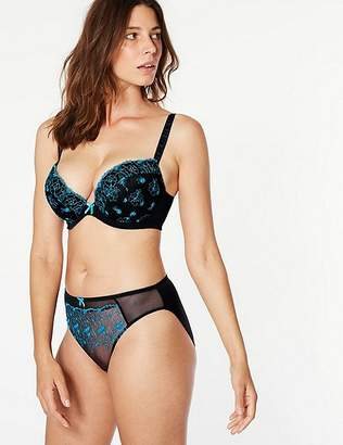 Marks and Spencer 2 Pack Embroidered Padded Plunge Bras DD-G
