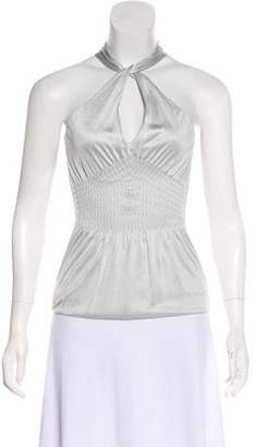 Gucci Ruched Sleeveless Top