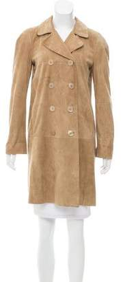 Max Mara 'S Double-Breasted Suede Coat