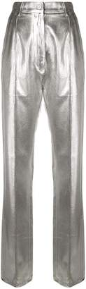 MM6 MAISON MARGIELA high-waisted metallic trousers