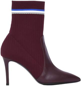 Pollini Burgundy Ankle Boots