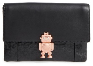 Ted Baker London Jemms Leather Crossbody Bag - Black $219 thestylecure.com
