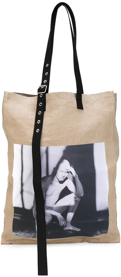 Raf Simons Raf Simons photographic tote bag