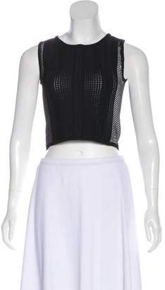 Opening Ceremony Rib Knit Sleeveless Crop Top