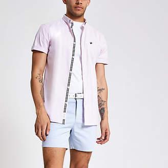 River Island Pink short sleeve Oxford shirt