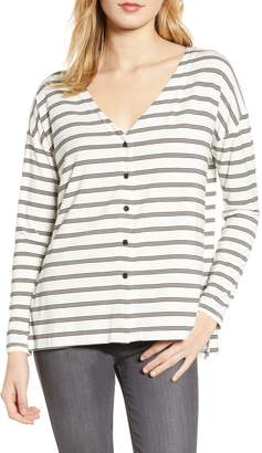 Cupcakes And Cashmere Roxanna Stripe Knit Top