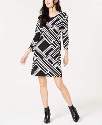 INC International Concepts I.N.C. Geo-Print Shift Dress, Created for Macy's