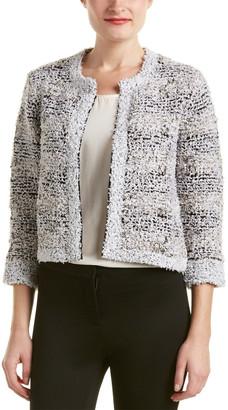 Magaschoni Silk & Cashmere Blend Texture Tweed Jacket