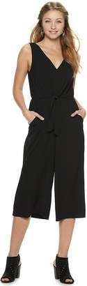 19711c4794a9 As U Wish Juniors  Knot Front Crop Jumpsuit