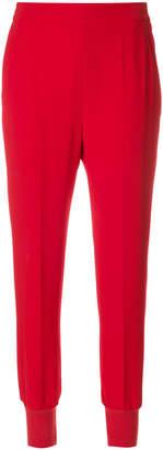 Stella McCartney crepe jogger-style trousers