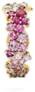 A.N.A Khouri - 18kt Gold, Diamond & Sapphire Single Earring - Womens - Pink