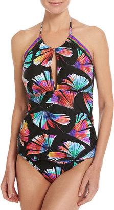 La Blanca Your 1 Fan Hi-Neck Tankini Swim Top, Multi $89 thestylecure.com