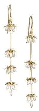 Annette Ferdinandsen Women's Flora 18K Gold & Keshi Pearl Earrings