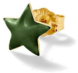 Alison Lou Women's 14k Yellow Gold Yellow Enamel Star Mono Stud Earrings