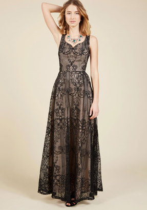 ModCloth Faith in Flawlessness Maxi Dress in Noir in XL $149.99 thestylecure.com