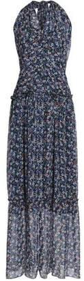 Nicholas Floral-Print Silk-Chiffon Halterneck Maxi Dress