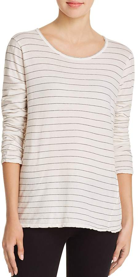 Current/Elliott The Long Sleeve Boyfriend Stripe Tee