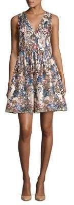 Alice + Olivia Sequin Floral Dress