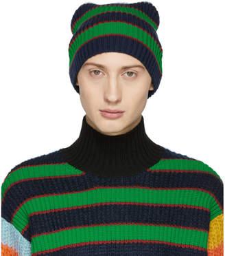 aa6bf6a74371a7 Kenzo Multicolor Striped Memento Beanie