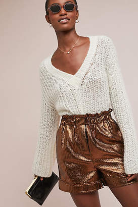 Nude Metallic Party Shorts
