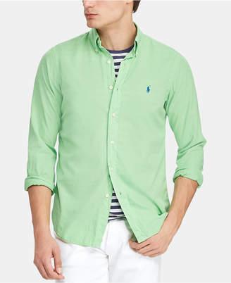 Polo Ralph Lauren Men Slim Fit Garment-Dyed Twill Shirt
