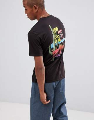 HUF country t-shirt with back print in black