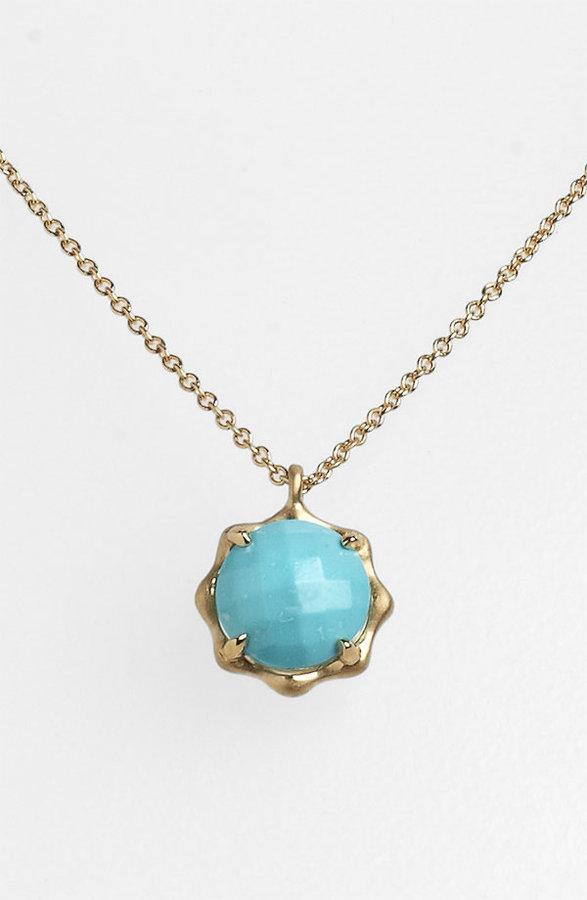 Carelle 'December' Birthstone Pendant Necklace