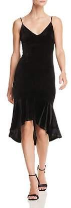 Aqua Ruffle-Hem Velvet Midi Dress - 100% Exclusive
