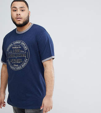 Duke King Size T-Shirt With Classic Print And Embroidery