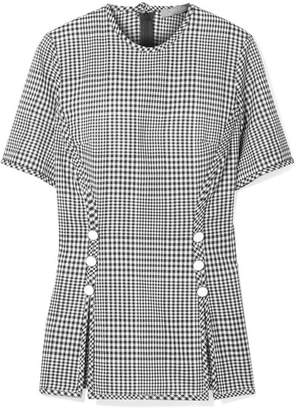 Lela Rose Checked Wool Top - Black