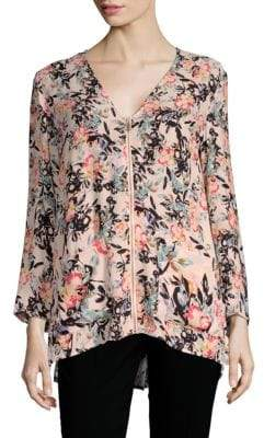 French Connection Delphine Crepe Floral Top