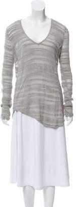 Helmut Lang V-Neck Semi-Sheer Sweater