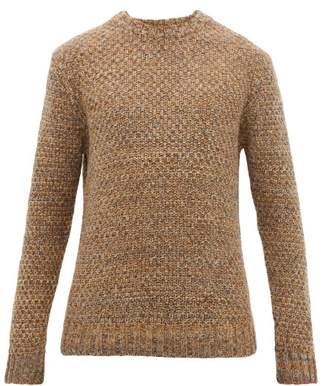 Melange Home Barena Venezia - Golena Mischio Wool Blend Sweater - Mens - Khaki