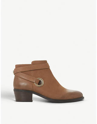 Steve Madden Owald cross-strap leather ankle boots