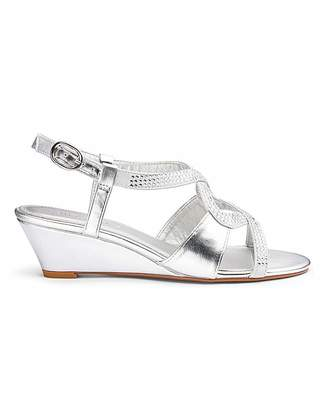f7edbc3bc2f Silver Wedge Sandals - ShopStyle UK