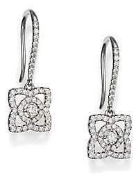 De Beers Women's Enchanted Lotus Diamond& 18K White Gold Drop Earrings