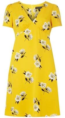 Dorothy Perkins Womens Yellow Floral Shift Dress