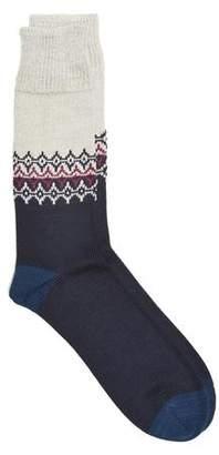 Corgi Fairisle Sock in Cream