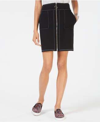 INC International Concepts I.N.C. Zip-Front Mini Skirt, Created for Macy's