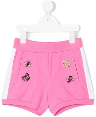 MonnaLisa embellished track shorts