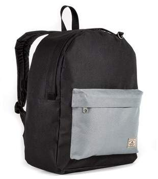 Everest Classic Color Block Backpack, Black/Gray, One size