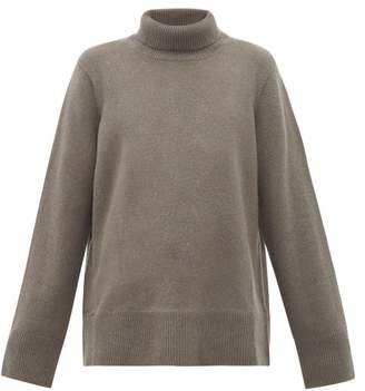 The Row Milina Roll Neck Cashmere Blend Sweater - Womens - Grey