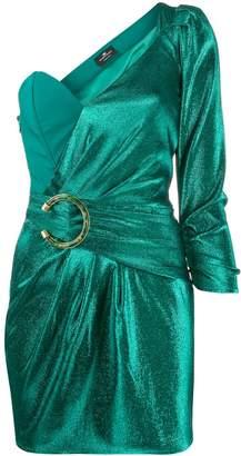 Elisabetta Franchi one shoulder mini dress