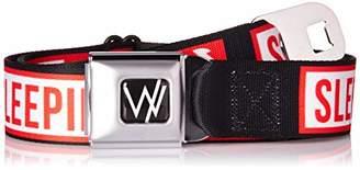 Buckle-Down Men's Seatbelt Belt Sleeping with Sirens Regular