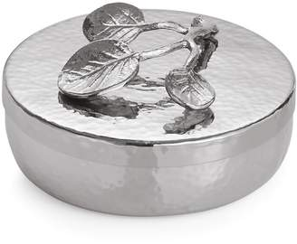 Michael Aram 'Botanical Leaf' Round Trinket Box