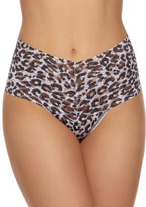 Hanky Panky Copycat Leopard Lace Retro Thong
