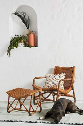 Anthropologie Bodega Lounge Chair & Ottoman